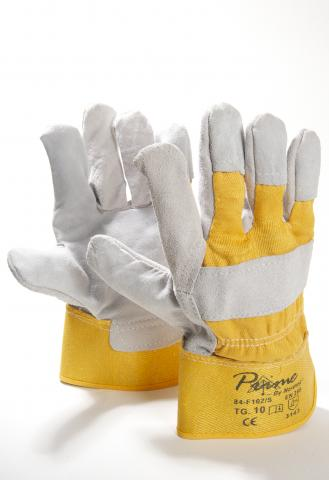 LEATHER-COTTON BROWN CANADIAN WORK GLOVES