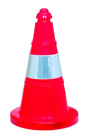 CONE WITH HI-VI TAPE 50cm