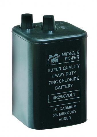 6V BATTERY FOR WARNING FLASHLIGHT